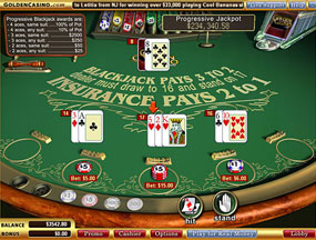 insurance on blackjack